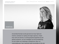 Annemieke Romeijn website redesign