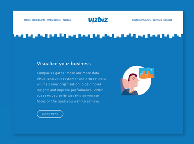 VizBiz brand identity and web design