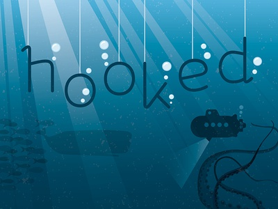 hooked | Free Font type font typography