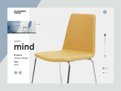 Alexander Lervik - Mind minimalistic yellow chair design webdesign ux ui page product landing challenge