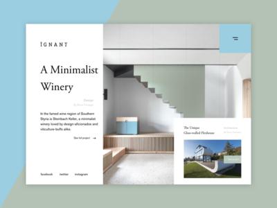 A Minimalist Winery - Design interior architecture webdesign ux ui slider photo page landing minimalist design art