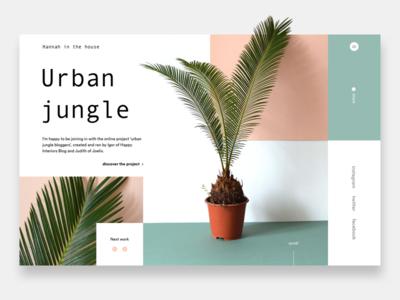 Hannah in the house - Urban jungle bloggers plant design landing minimalism mondrianizm photo slider ui ux webdesign