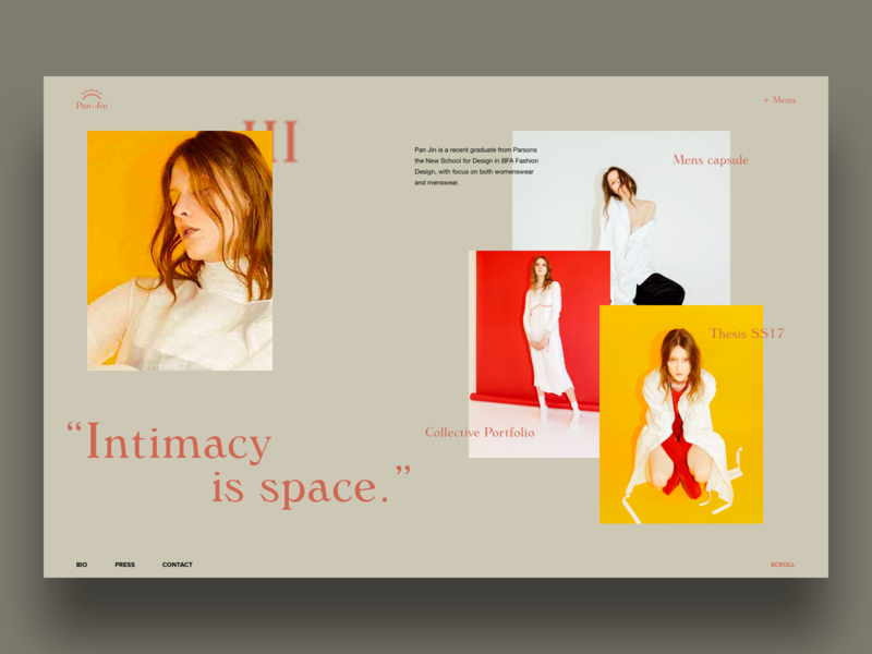 PAN/JIN - shot preview ui display photography colors typo font minimal clean
