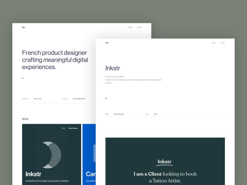 Ugo Olsak - Portfolio 2019 ui ux minimalism minimalist minmal webflow portfolio