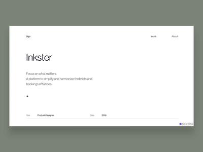 Ugo Olsak - Portfolio Case Study Page minimalism minimalist minimal case study webflow casestudy design ux ui