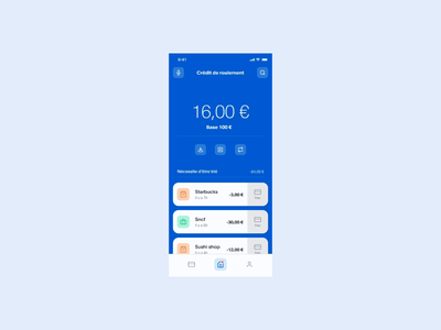 Banking app - Sorting payments product design products product mobile banking app banking card credit account payment sorting app bank app bank