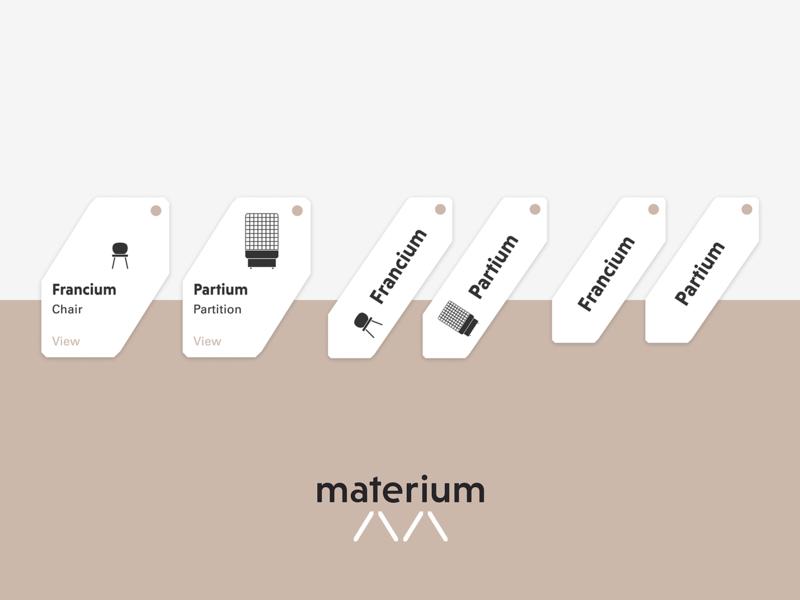Product Tag Exploration furniture website furniture store clean ui ui tagging tag design materium minimalist clean user interface interface furniture app furniture tag product