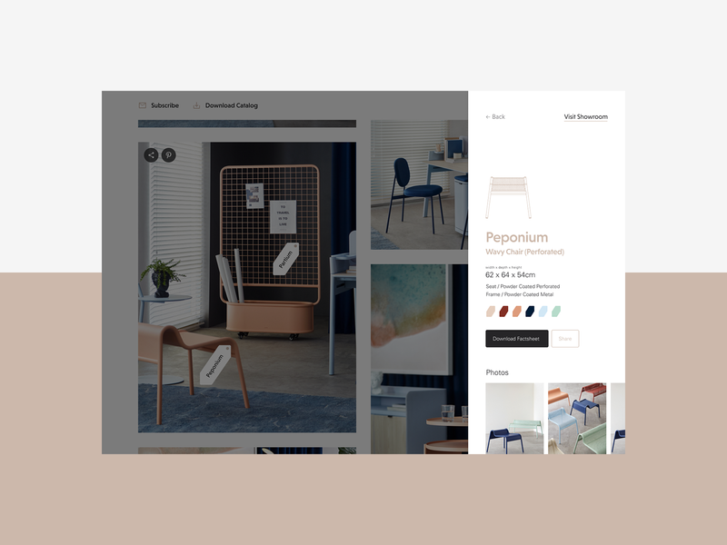 Materium Furniture Product Detail furniture website furniture store furniture clean ui clean user interface ui web design website web