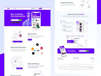 Butter - Pay Instalments product design webdesign ux website clean ui design figma sketch design app ui clean ui design