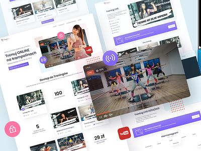 Online Workout Platform ecommerce 2021 trend figma website product design webdesign clean ui design ux design clean ui ui