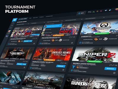 Game Platform UI Concept webdesign ui design