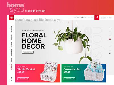 Home & You - Redesign Concept design shop ecommerce webdesign