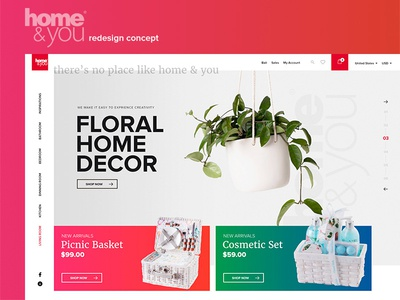 Home & You - Redesign Concept design shop ecommerce webdesign