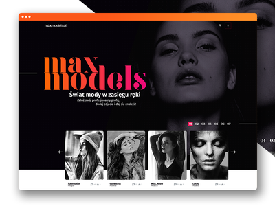 Maxmodels - Redesign Concept ui design web