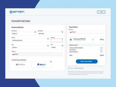 Simple Payment Methods Form payment ecommerce website web ux ui design payment methods