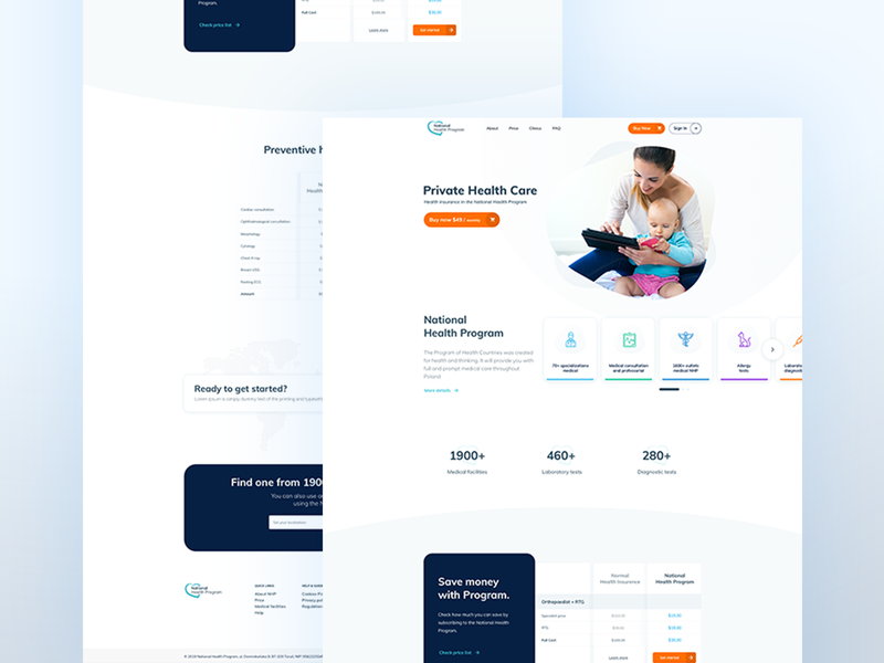 National Health Program design app web ux sketch sketch app 2019 trend clean ui design clean ui visual design trendy design landing page minimal freelance health care ui webdesign website design