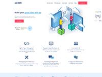 Ecom dribbble full page