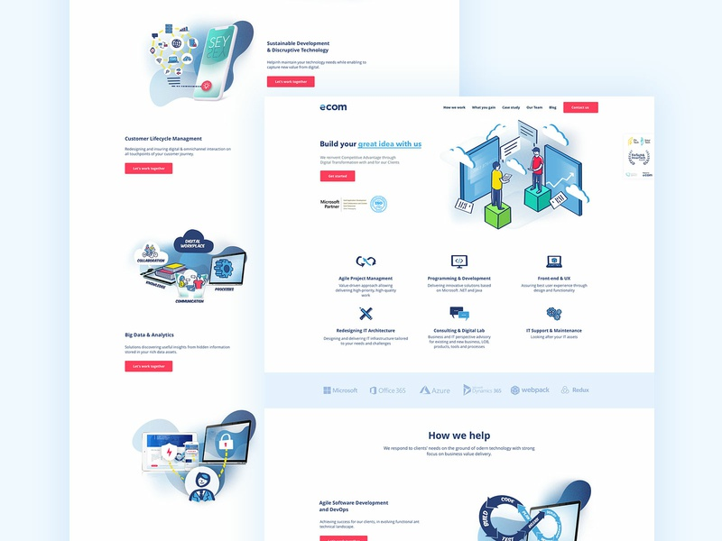 Software House - Website web website webdesign ux designer ui trendy design sketch app sketch minimal landing page software design freelance design app design clean ui design clean ui 2019 trend