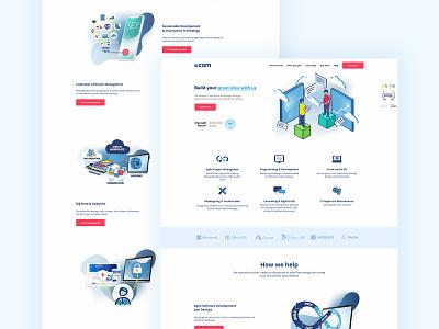 Software House - Website web website webdesign ux designer ui trendy design sketch app sketch minimal landing page software design freelance design app design clean ui design clean ui 2019 trend