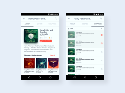 Android UI Kit - 🎧📖Audiobook Player