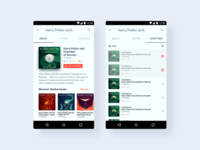 Android UI Kit - 🎧📖Audiobook Player product design template android app figma 2019 trend clean ui design clean ui sketch ui ux design app design web