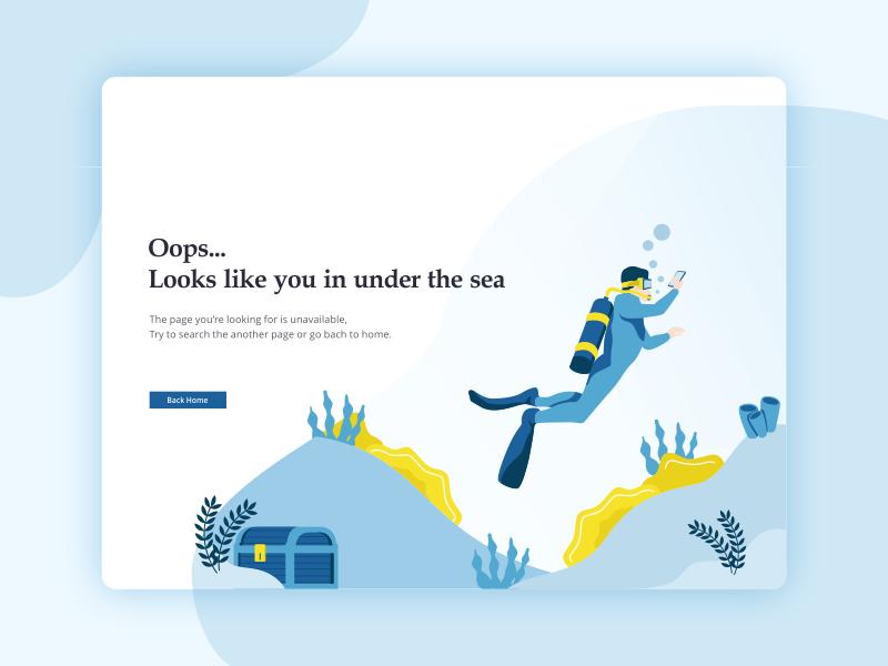 404 error page deisgn example #48: 404 Error Page