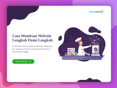 How to Make a Website illustration homepage