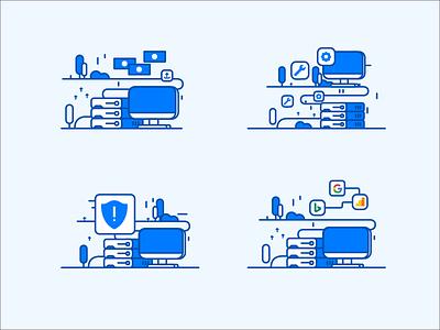 Illustration for Website Hosting server graphicdesign domain illustration ux ui homepage website hosting