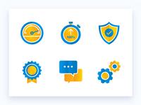 Hosting provider Icon set
