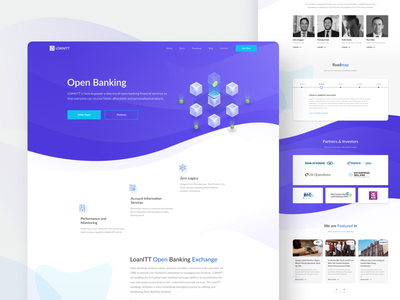 LoanITT 3d coin blue outline icons waves wave isometric roadmap crypto logotype branding site product logo interface web design ux ui