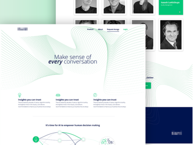 Sorp vector illustration photoshop design interface product web site ux ui landing lines green page