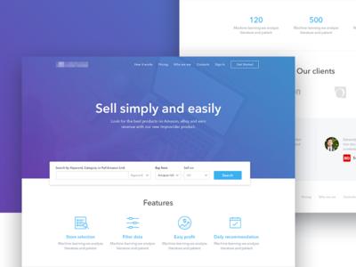Improvider ecommerce design interface product responsive landing minimal ui ux site web
