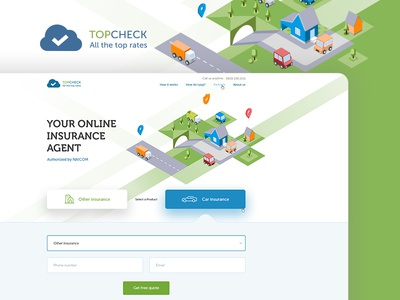 Topcheck isomerty responsive design graphic design web design landing page interface wireframes prototypes ui ux