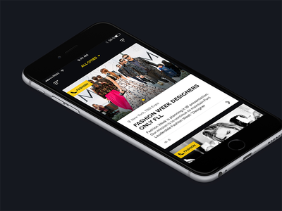 Trendy List yellow black card fashion app ios