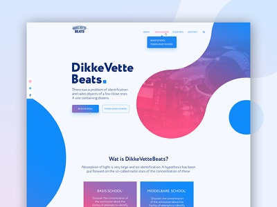 Dikkevettebeats landing card red blue gradient color music