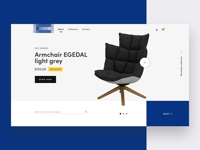 Furniture website concept button slider furniture ecommerce chair card site product interface web design ux ui