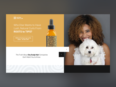 Hair Roots Oil Landing page branding interface web design ui ux modern product fashion landing page tips roots curves hair oil