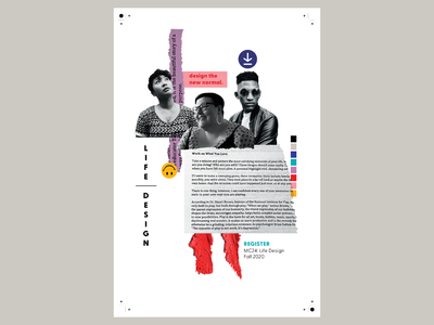 Life Design Poster collageart collage art collages collage branding illustrator design people illustration portrait illustration