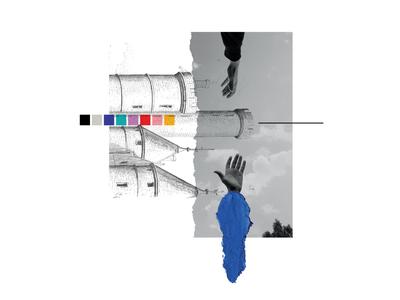 Collage Series #3 vector logo collages collage art collageart collage branding design portrait illustration