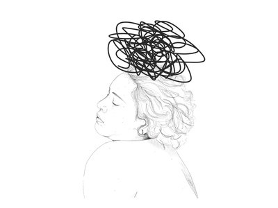Mindless portrait ipad illustration