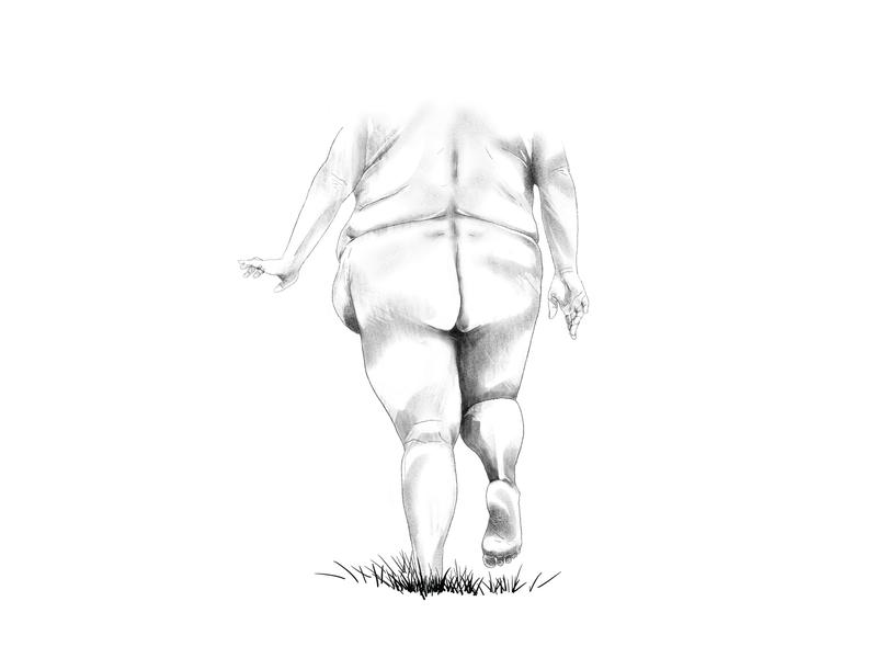 Do Not Tread Lightly portrait ipad illustration