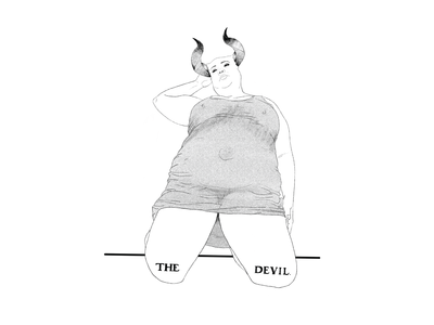 Devil Knows Best portrait ipad illustration