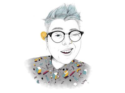 Visible & Spreading Joy ipad art drawing illustration portrait procreate ipad