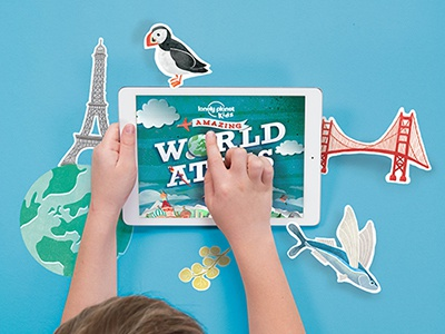 Lonely Planet Kids World Atlas Promo lonely planet kids lp kids art direction design app atlas illustration photoshop