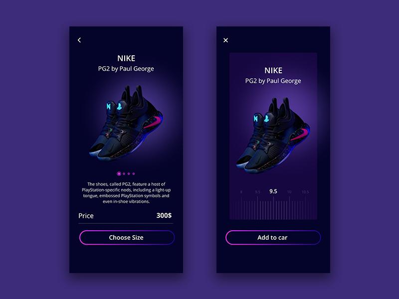 the latest ea4a5 74fec Nike pg2 e-commerce screen by Alexander Gonzalez on Dribbble