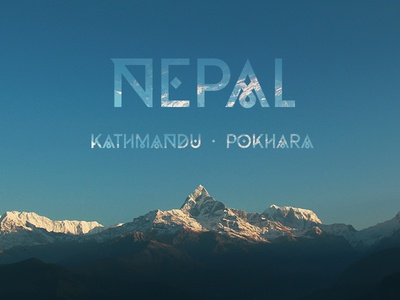Moveast Country Covers - Nepal photo photography brand branding type nepal travel traveler city design cover