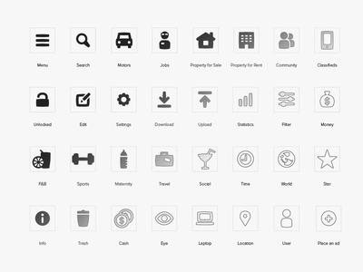 dubizzle iconography icons iconography car person jobs design graphic design digital app
