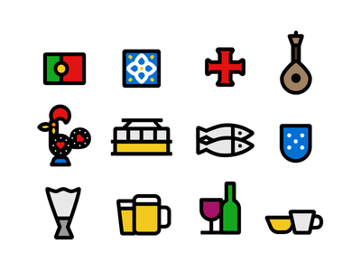 Icons from Portugal portugal iconography illustration icon