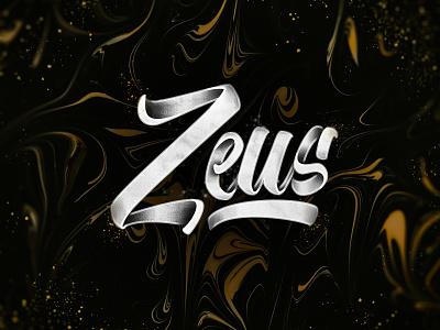 Zeus texture marble handlettering brushlettering print art type design typography lettering