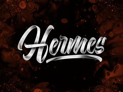 Hermes concept brushlettering handlettering brush art type design typography lettering